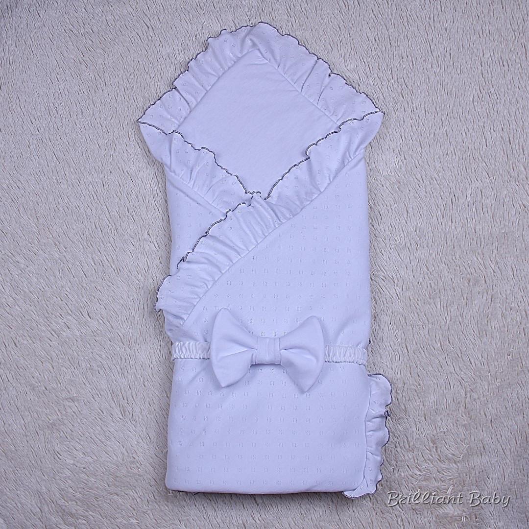 Летний конверт-плед Нежность (белый)