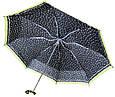 Женский зонт Knirps X1 Flakes Black Kn89 811 4990, механика, черный с желтым, фото 3