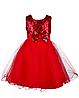 Нарядное красное  платье  для девочек 3-4 года