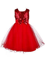 Нарядное красное  платье  для девочек 3-4 года, фото 1