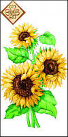 Салфетка ТМ Luxy Mini 33х33 см декор 3 слоя,10шт Солнечный цветок 4820164965283