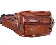 Кожаная сумка на пояс барсетка поясная бананка мужская через плечо барыжка унисекс