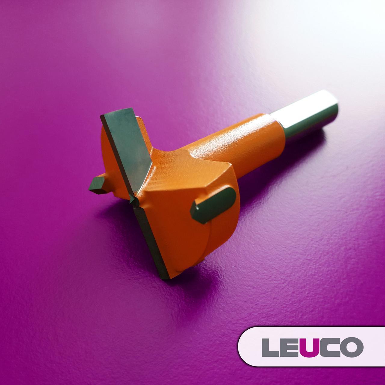 Сверло Форстнера (чашечное) Leuco для сверлильно-присадочных станков, 35х70х10 (левое)