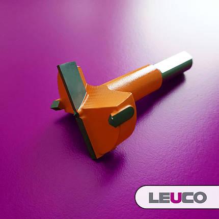 Сверло Форстнера (чашечное) Leuco для сверлильно-присадочных станков, 35х70х10 (левое), фото 2