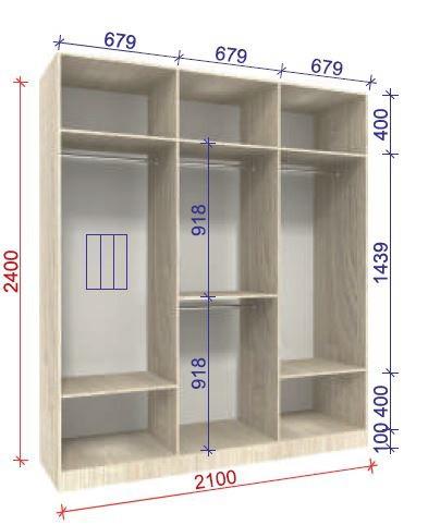 наполнение шкафа вариант стандарт 2