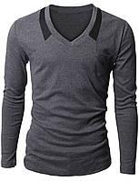 """Молодежный пуловер """"Cinnabar"""" из плотной трикотажной ткани Серый, Размер L"""