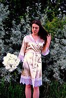 Атласный женский халат Код МВ-71