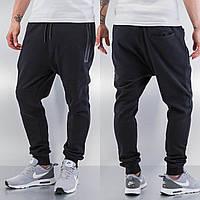 """Стильные спортивные штаны """"Magnetite""""  зауженные Черные, Размер XL"""