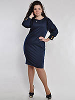 Платье с имитацией заклепок на спине ,батал 02987