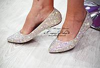 Балетки (туфли) со стразами Сваровски (копия) 38 размер