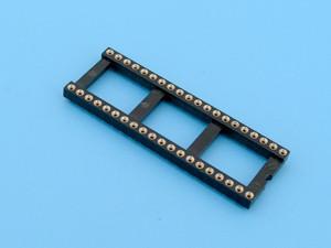 Цанговая DIP-панелька SCSP-28 планарного монтажа, 28 контактов, широкая