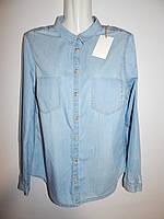 Блуза-рубашка  джинсовая женская СLOCKHOUSE 48-50р.135ж