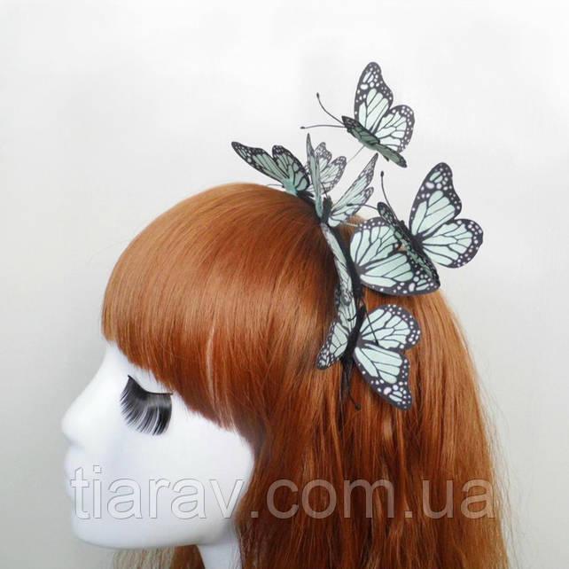 Обруч для волос Эффект бабочки ободок веночек тиара для волос детские украшения для волос