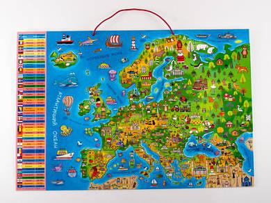 Магнитная карта-пазл Европа