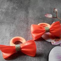 Мини бантик, оранжевый