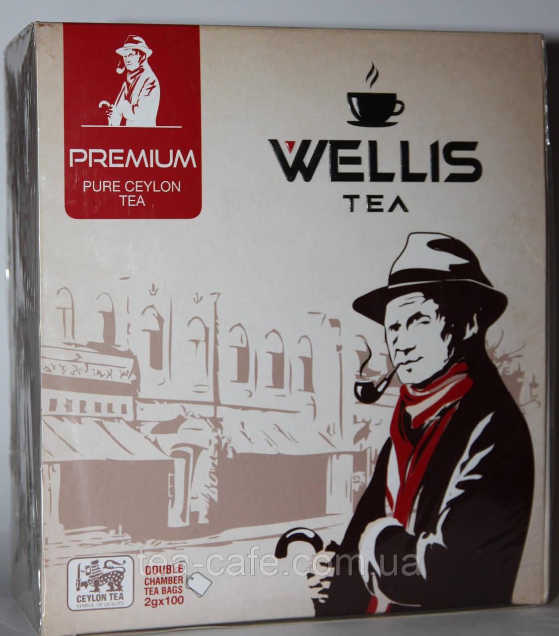 Чай Wellis Premium, 100 пак.