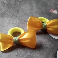 Мини бантик,желтый