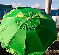 Зонт круглый пляжный, торговый, 3.5 m 12 усиленных  спиц, с серебряным напылением ветровым клапаном.