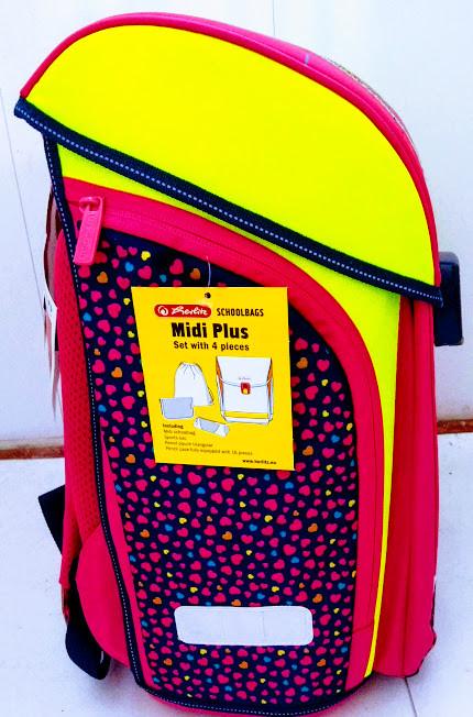 b773ebd652f1 Ранец школьный Herlitz Midi с наполнением Pink Hearts 50013715 ...