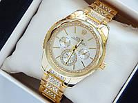 Женские наручные часы Rolex золотого цвета с граненным стеклом, фото 1