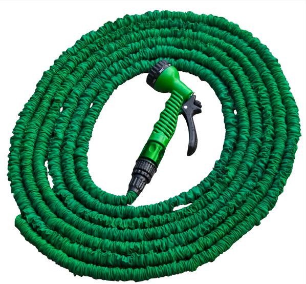 Растягивающийся шланг TRICK HOSE 5-15 м, зеленый