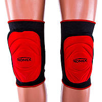 Наколенник волейбольный Ronex, красный (RX-057-(rd))