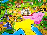 Детские географические карты-пазлы