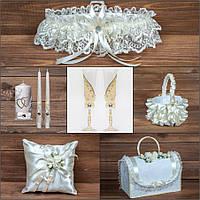 Набор свадебных аксессуаров в тонах айвори