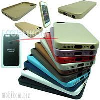 Чехол Накладка Apple Case Leather HC for iPhone 5/SE brown light