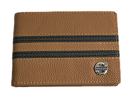 Кожаная обложка для прав Carrs с логотипом VOLVO коричневая (VOL23)