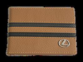 Кожаная обложка для прав Carrs с логотипом LEXUS коричневая (LEX13)