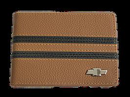 Кожаная обложка для прав Carrs с логотипом CHEVROLET коричневая (CH14)