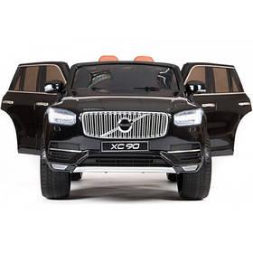 Детский электромобиль Volvo XC90  покраска черный и белый