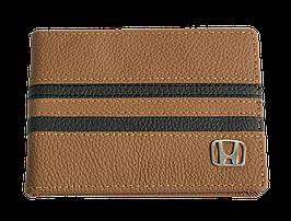 Кожаная обложка для прав Carrs с логотипом HONDA коричневая (HON08)