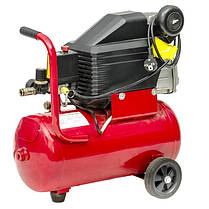Компрессор 24 л, 1.5 кВт, 220 В, 8 атм, 206 л/мин INTERTOOL PT-0010, фото 2