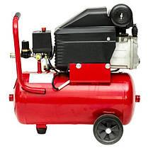 Компрессор 24 л, 1.5 кВт, 220 В, 8 атм, 206 л/мин INTERTOOL PT-0010, фото 3