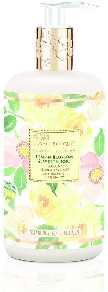 Увлажняющийбальзамдля рук и тела серии люкс Baylis&Harding Королевский букет Цвет лимона и белая роза, 500мл
