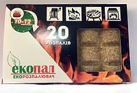 """Разжигатель """"Екопал"""", 20 брикетов"""