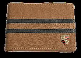 Кожаная обложка для прав Carrs с логотипом PORSCHE коричневая (POR06)