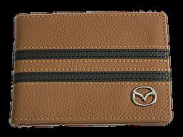 Кожаная обложка для прав Carrs с логотипом MAZDA коричневая (1MAZ16)