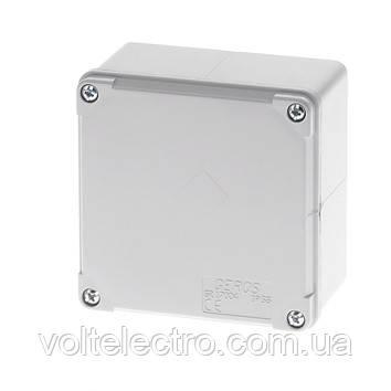 Монтажная коробка с гладкими стенками 100х100х60, IP65.