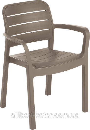 Стілець - крісло TISARA капучіно (Allibert)