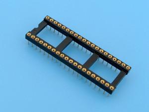 Цанговая DIP-панелька SCSM-16, 16 контактов, узкая
