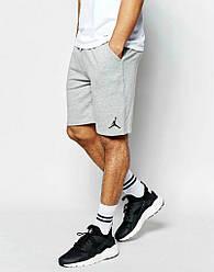 Шорты Jordan ( Джордан ) мужские серые чёрный значёк