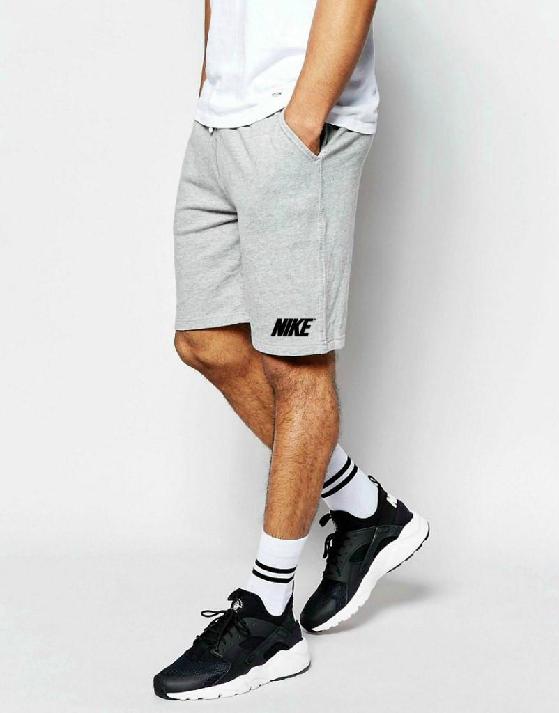 Шорты Nike ( Найк ) серые большое лого