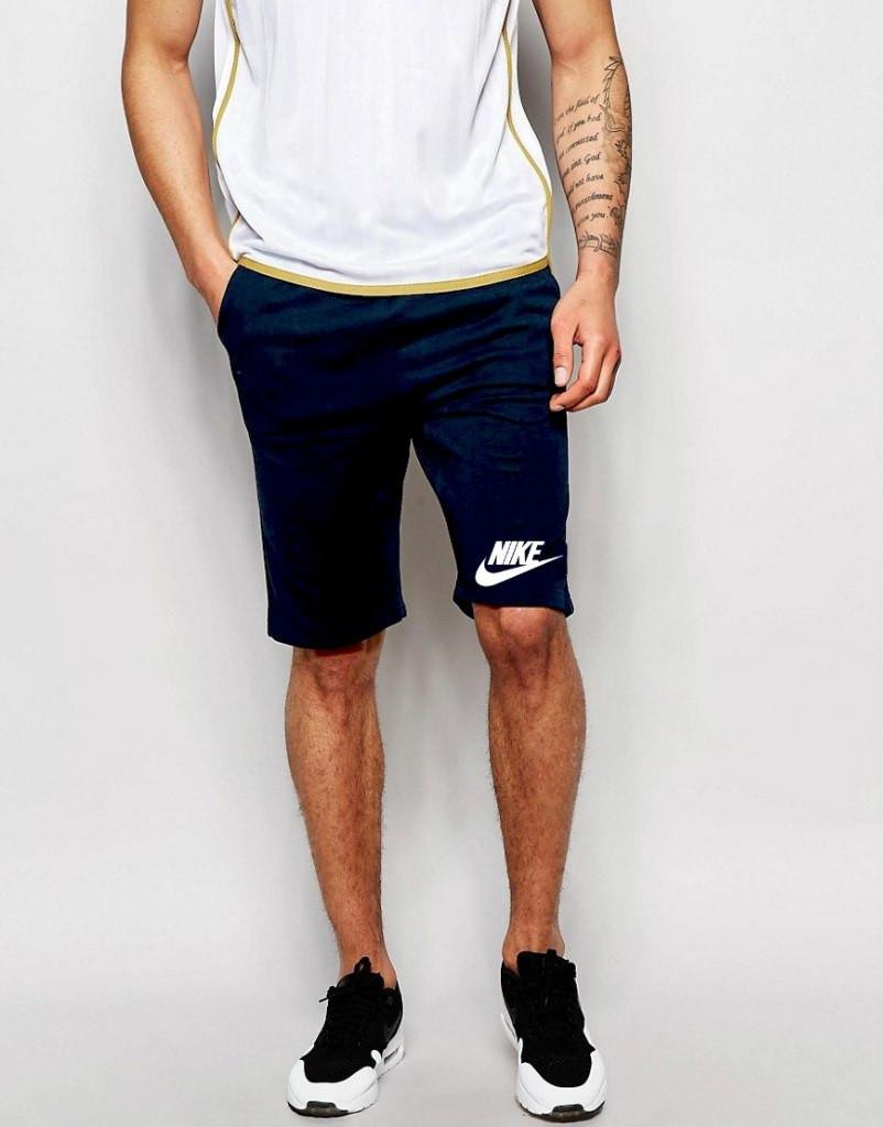 Шорты Nike ( Найк ) синие трикотажные