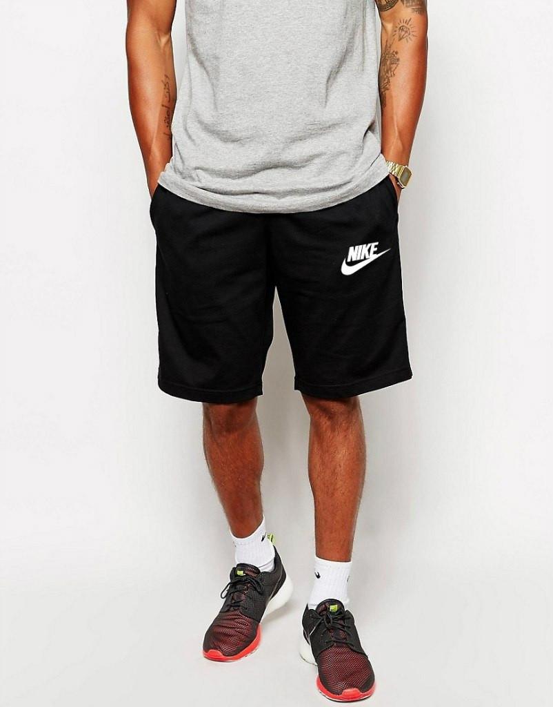 Шорты Nike ( Найк ) мужские белая галочка+лого