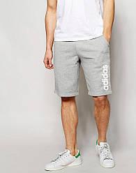 Шорты Adidas ( Адидас ) серые вертикальный принт