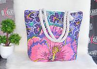 Пляжная сумка с канатными ручками Цветок., фото 1