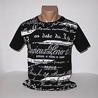 Турецкая молодежная черная футболка хлопок 1129